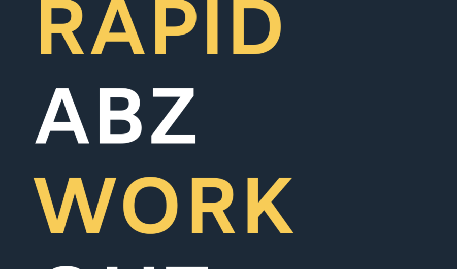 Workout Wednesday: Rapid Abz July 2020